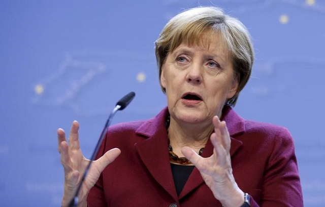 german chancellor merkel says to christian democrats at a meeting she sees no urgency to help turkey financially photo reuters