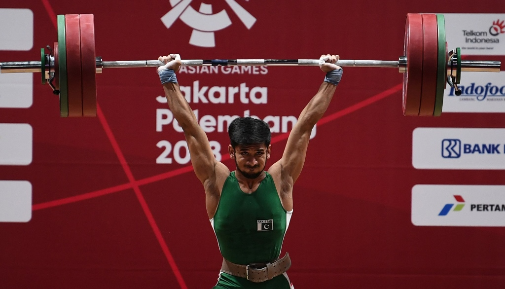 asian games pakistan s talib manages 7th position in weightlifting