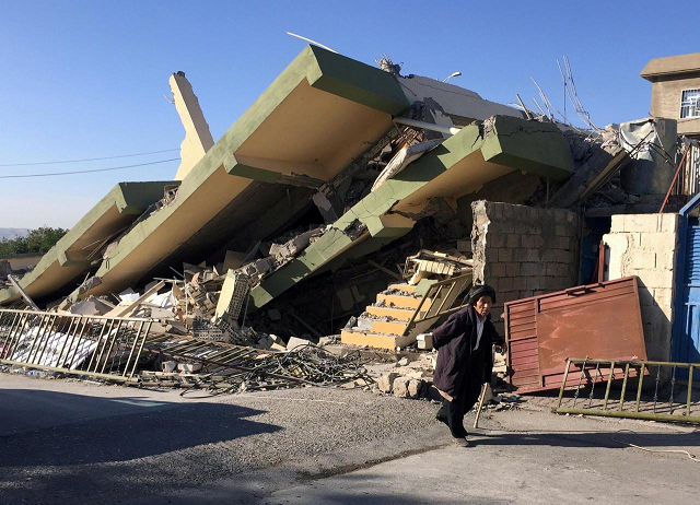 a magnitude 5 9 earthquake struck near the iranian city of kermanshah photo reuters