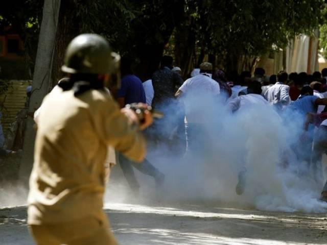 Hurriyet leader slams use of brute force in held Kashmir as fresh protests erupt