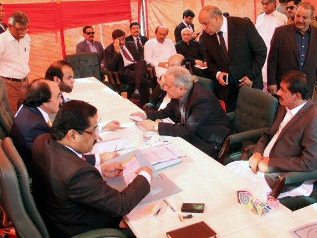 filing of by poll nomination papers commences