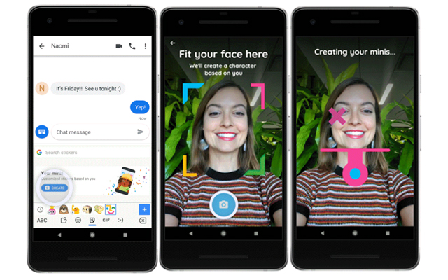 google lets you personalise emojis from selfies