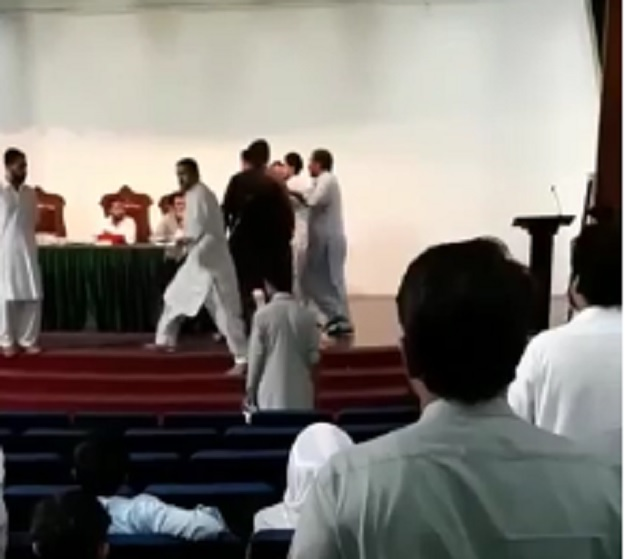 agriculture university in peshawar suspends officials for manhandling student