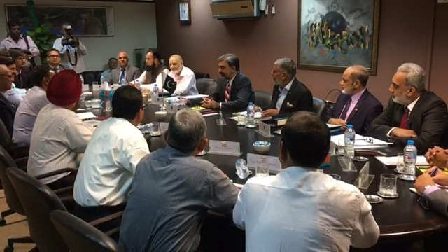 Both sides locking heads in Lahore for the Pak-India water talks. PHOTO: EXPRESS