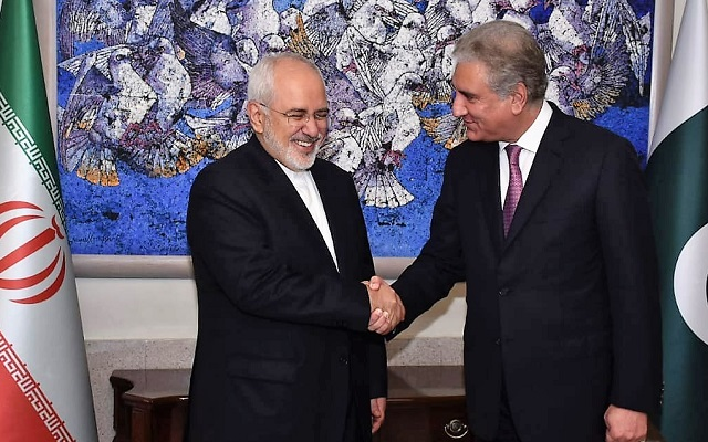 Iranian Foreign Minister Javad Zarif met Pakistan's Foreign Minister Shah Mehmood Qureshi on August 31,2018 during a two-day visit to the country. PHOTO:FILE