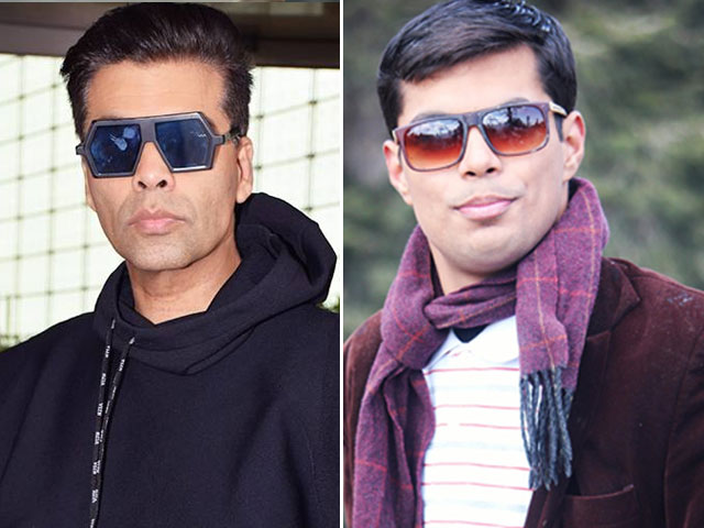 karan johar left speechless by pakistani lookalike