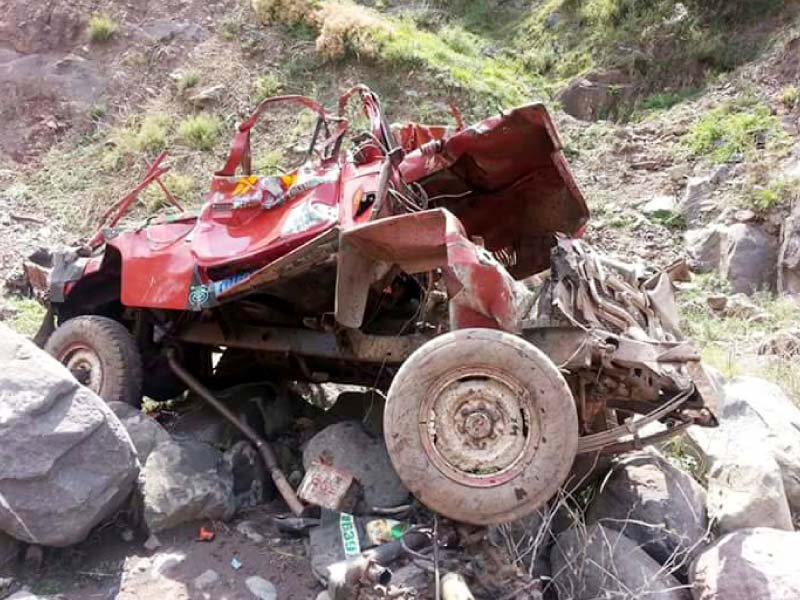 vacation turned sour 8 injured as jeep falls into naran ravine