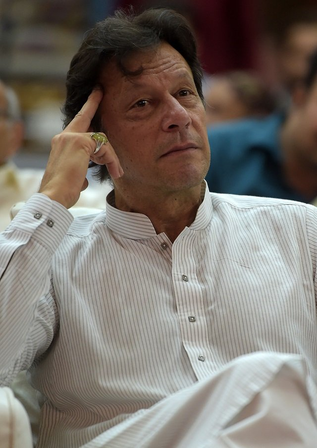 Prime Minister Imran Khan attends an election campaign rally in Islamabad on June 20, 2018. PHOTO: AFP