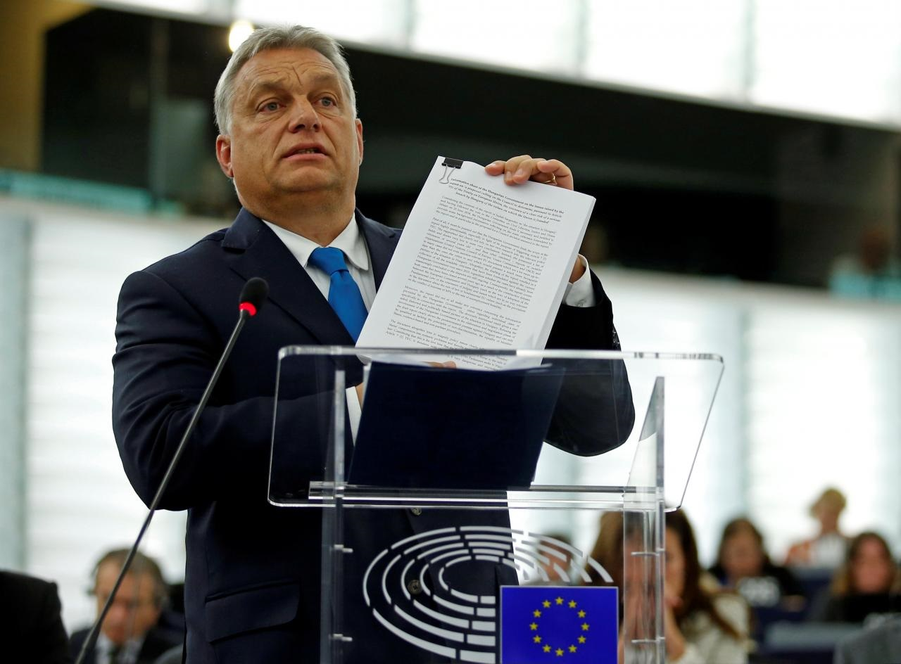 eu parliament pushes hungary sanctions over orban laws