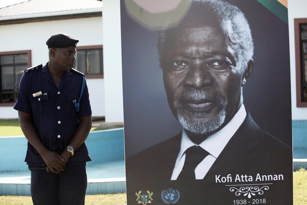 ghana bids farewell to former un chief kofi annan