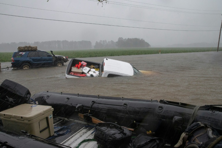 north and south carolina have so far experienced the worst of florence 039 s slow crawling path of destruction where the storm has been responsible for a total of 13 deaths according to local media   photo afp