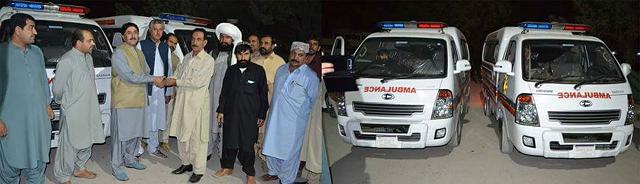 sandeman hospital gets three ambulances   after 20 years