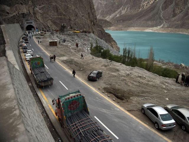 The 392km six-lane Multan-Sukkur Motorway is the largest transportation infrastructure project under the CPEC. PHOTO: AFP