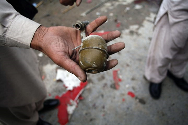 6 civilians injured in grenade attack on forces convoy