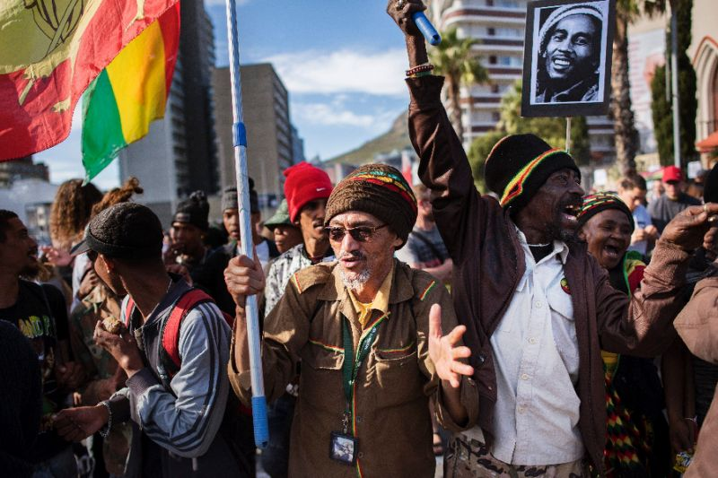 'Legalize weed': Cannabis supporters demonstrated to demand legalization. PHOTO AFP
