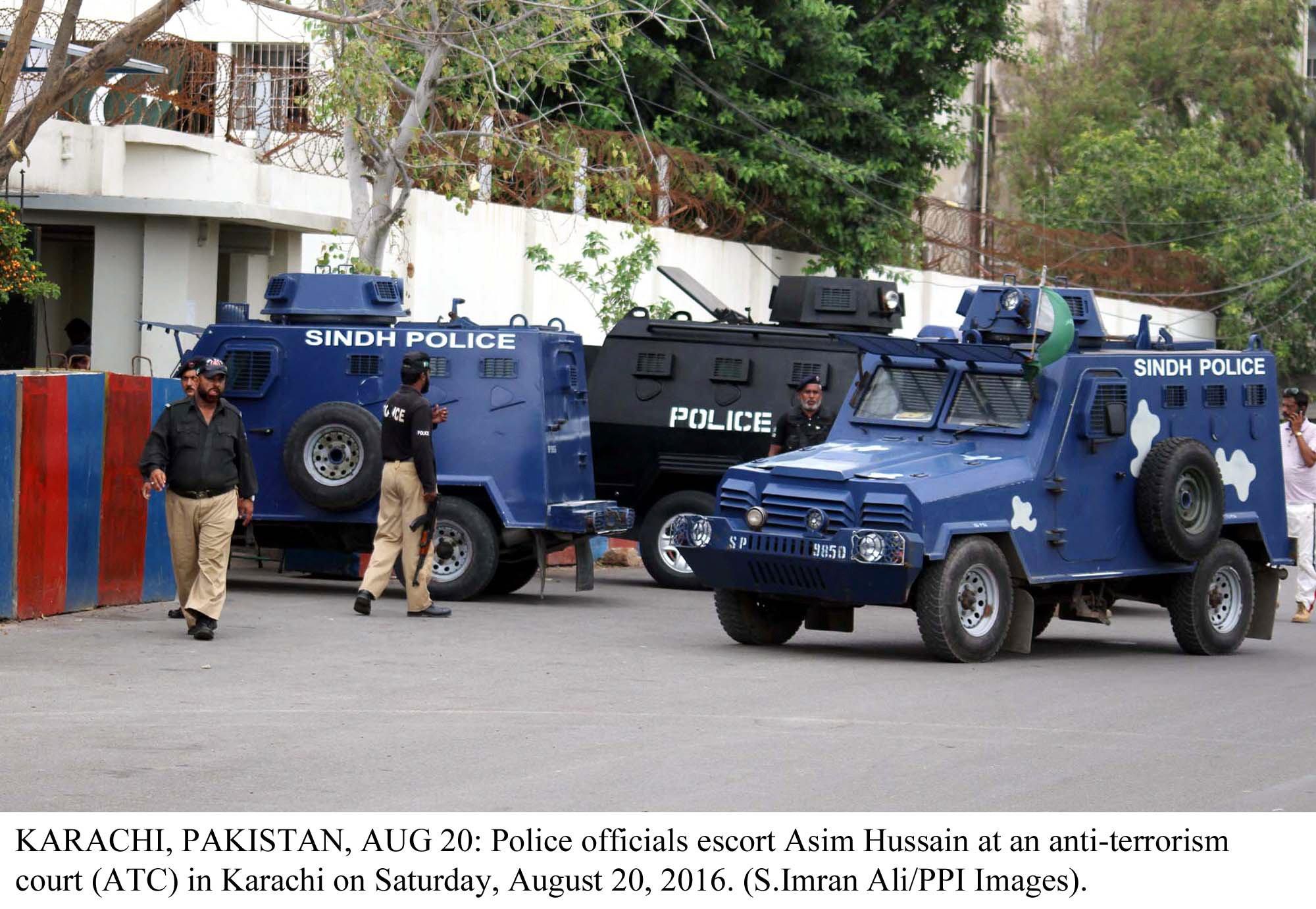 Karachi police. PHOTO: PPI
