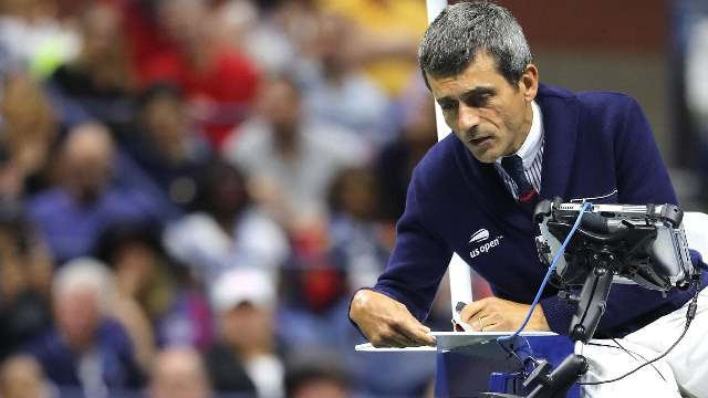 umpire layhani suspended for kyrgios pep talk