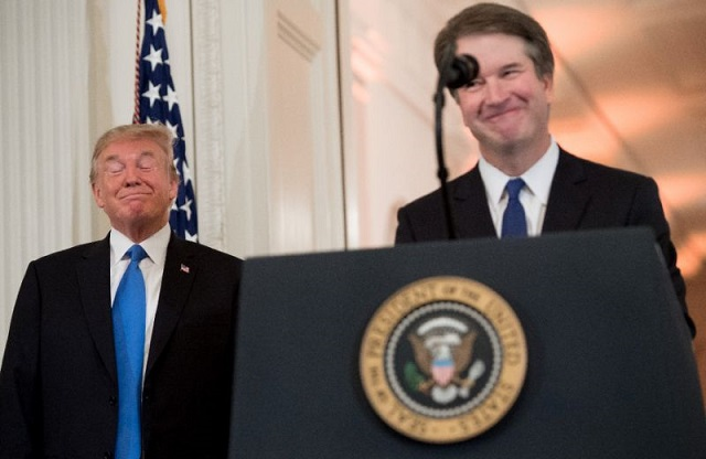 trump challenges kavanaugh accuser over account of sex attack