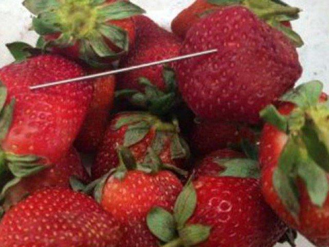 needle found in australian strawberries sold in new zealand