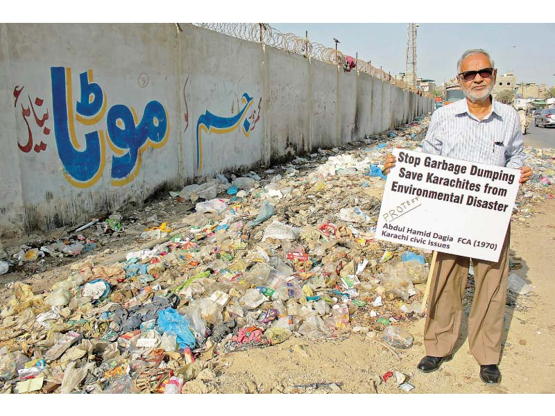 retired citizen on a mission to save karachi