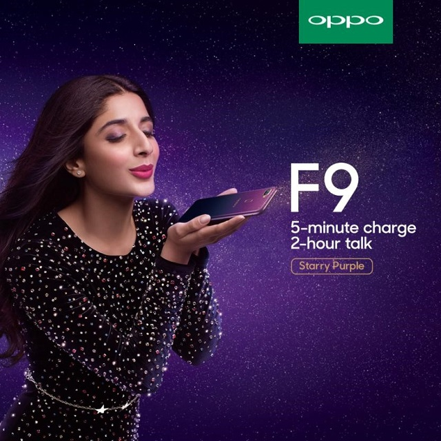 mawra hocane makes a statement with oppo s new f9 starry purple