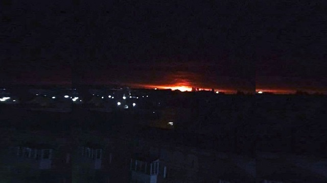 explosion at ukrainian ammunitions depot defence ministry