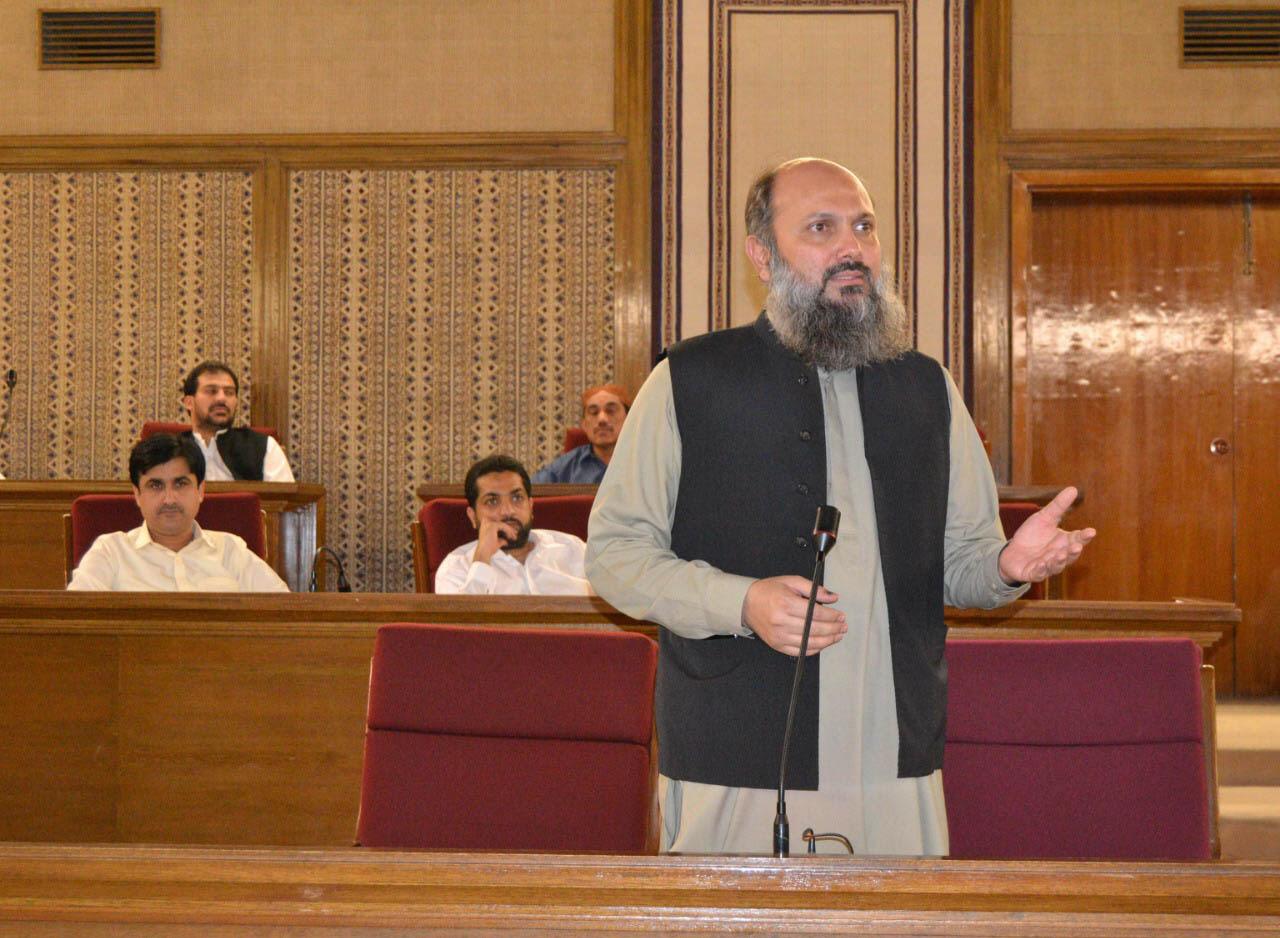 The Chief Minister of Balochistan, Jam Kamal Khan Alyani.