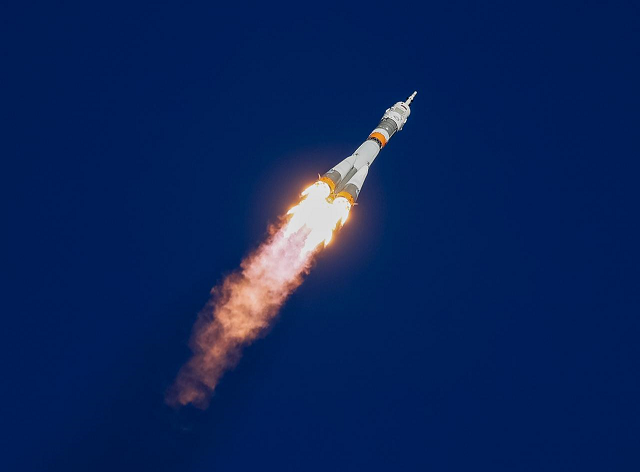 The Soyuz MS-10 spacecraft carrying the crew of astronaut Nick Hague of the US and cosmonaut Alexey Ovchinin of Russia blasts off to the International Space Station (ISS) from the launchpad at the Baikonur Cosmodrome, Kazakhstan October 11, 2018. PHOTO: REUTERS
