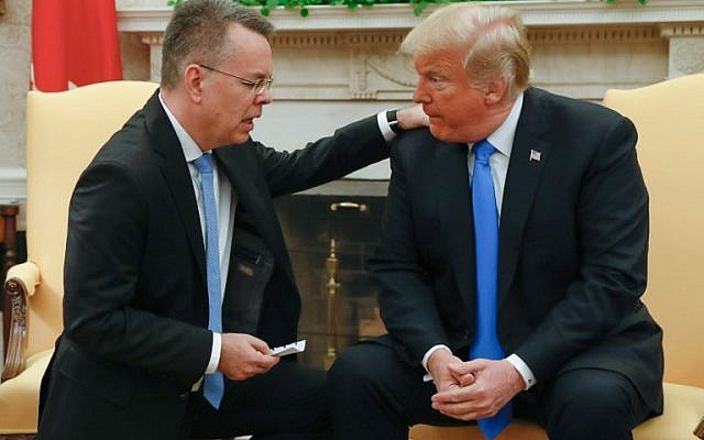 freed us pastor home from turkey meets trump at white house