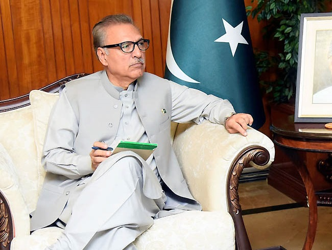 President Arif Alvi. PHOTO: NNI