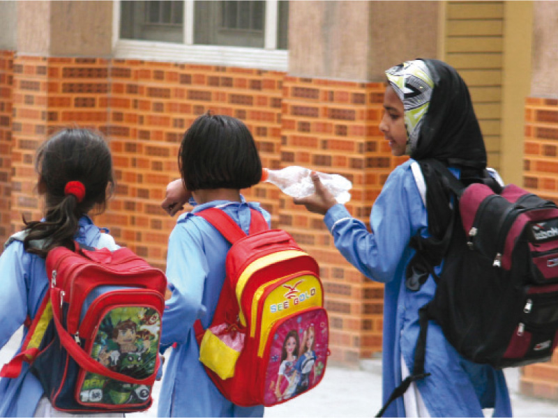 heavy schoolbags k p govt told to devise concrete mechanism