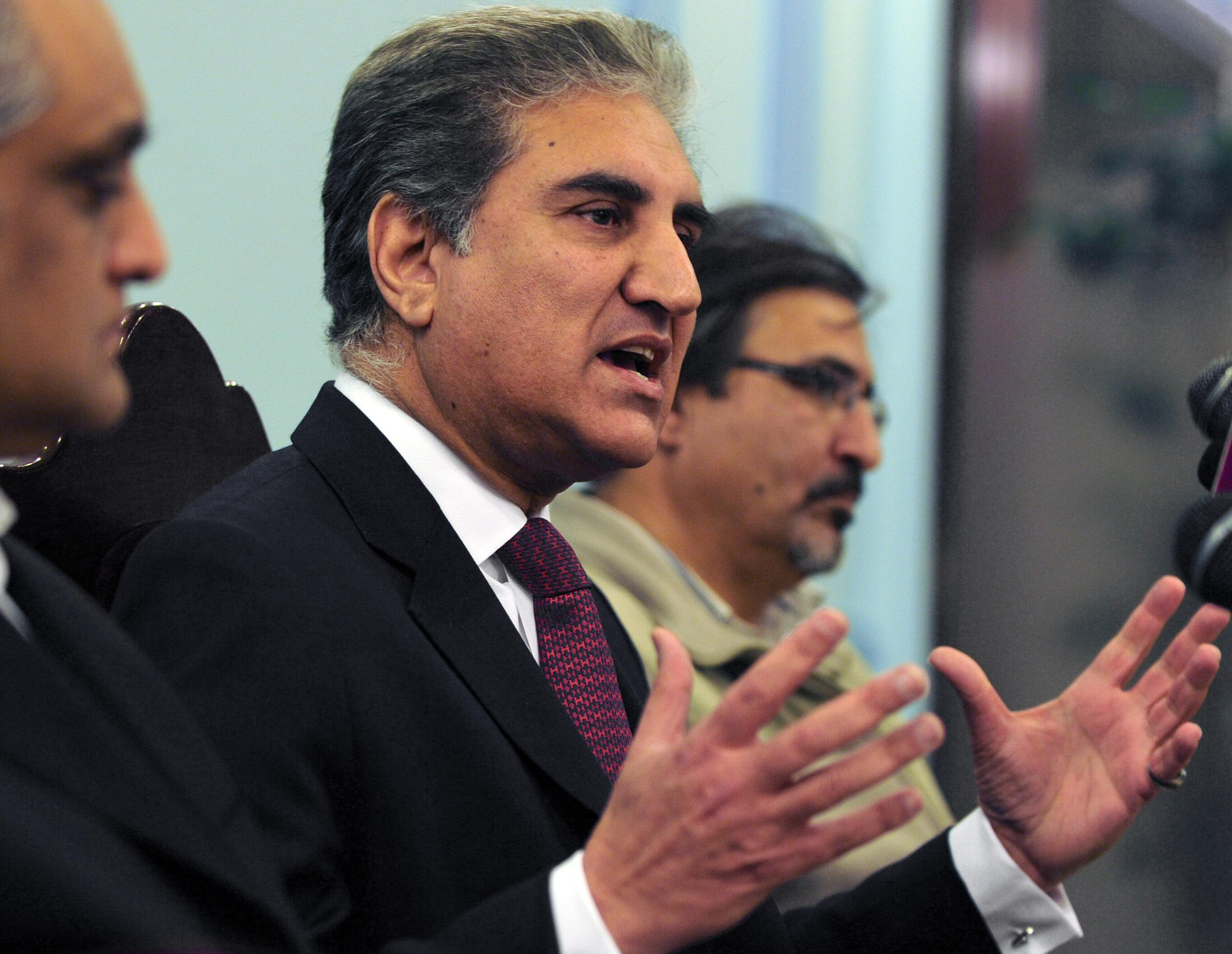 Foreign Minister Shah Mehmood Qureshi. PHOTO: AFP
