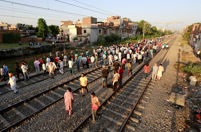fifty nine killed in amritsar train accident indian punjab chief minister says
