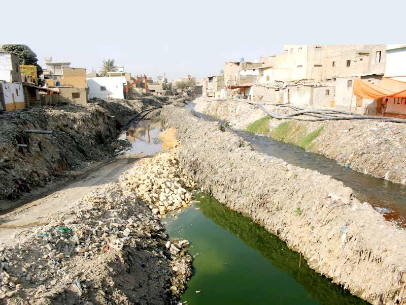 long awaited project work begins on gujjar nullah s rehabilitation
