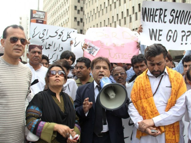 three days later hindu community protests abduction of 11 year old girl