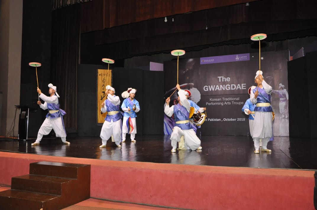 korean cultural event held at lahore s alhamra hall