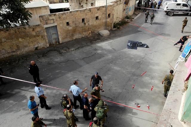palestinian shot dead after stabbing israeli soldier idf