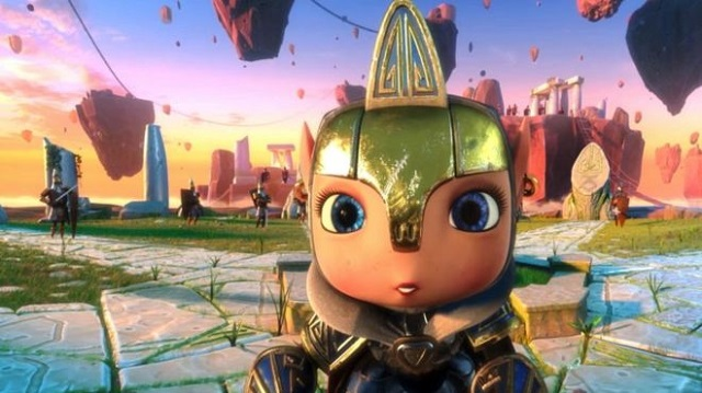 Children are provided a VR headset and a 3D animated adventure story, where armoured heroes fight bad guys. PHOTO COURTESY: BBC