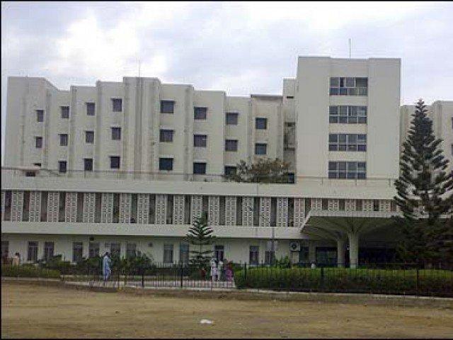 The main National Institute of Cardiovascular Diseases in Karachi. PHOTO: NICVD