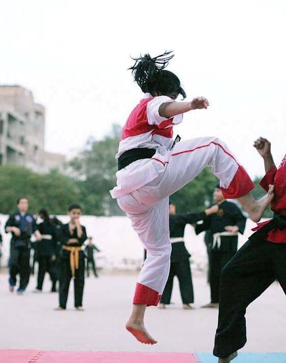 k p karate haripur bags champion trophy