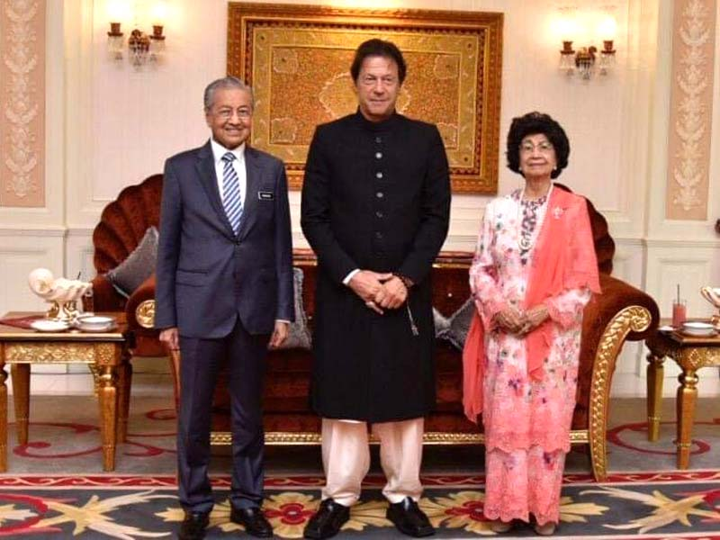 watch malaysia s first lady thrilled to hold pm imran s hand