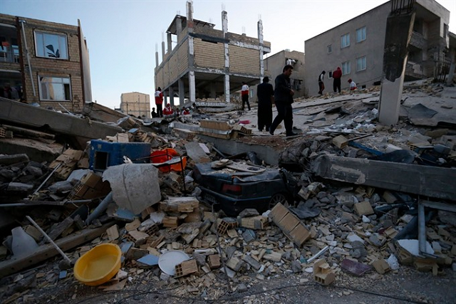 strong earthquake rocks western iran