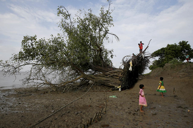 villagers fear for survival on india s disappearing island
