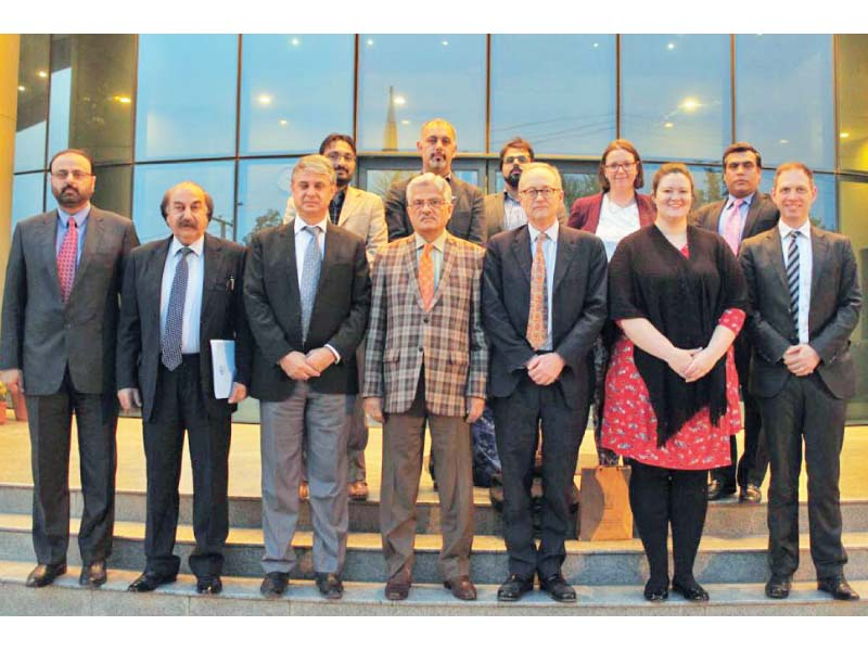 adviser to british pm along with his team visited the headquarters of pemra photo express