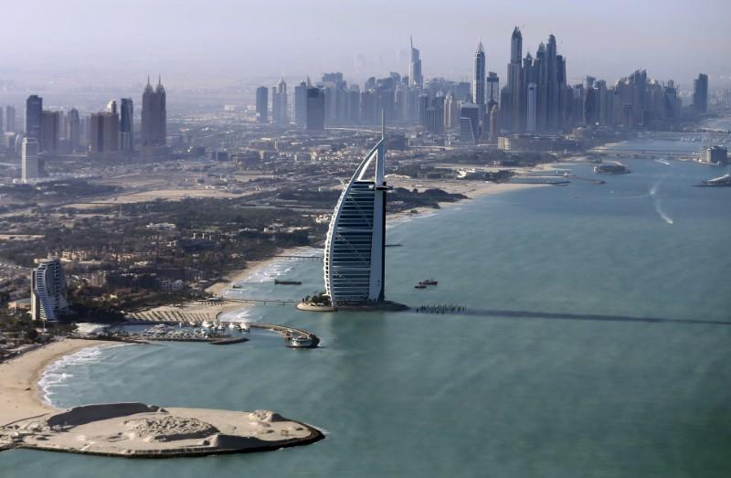 A general view of the luxury Burj al-Arab Hotel at Jumeirah area in Dubai, UAE. PHOTO: REUTERS