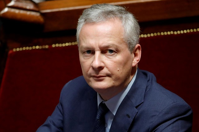 French Finance Minister Bruno Le Maire attends a session of the National Assembly in Paris, November 27, 2018. PHOTO: REUTERS