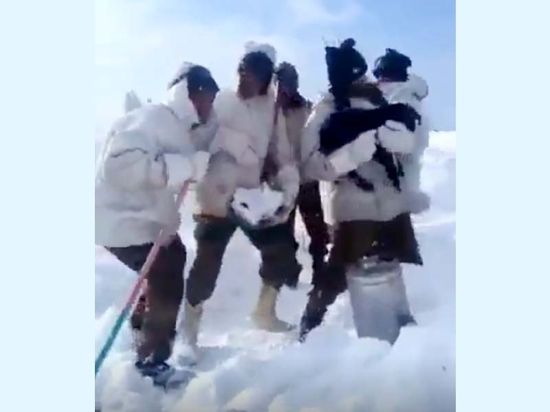 video of indian troops stationed on siachen glacier moving to the beat goes viral photo twitter omarquraishi