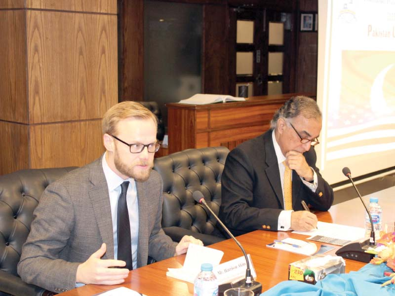 University of Tennessee Research Fellow Harrison Akins speaking at IPRI. PHOTO: EXPRESS