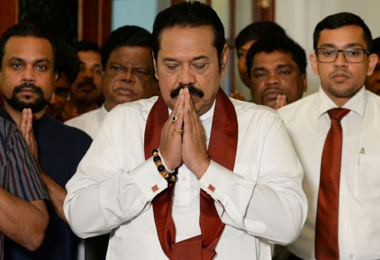 rajapakse bows out ending sri lanka power struggle
