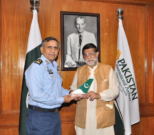 Soomro says govt will help national flag carrier in any way possibl. PHOTO: COURTESY: PIA